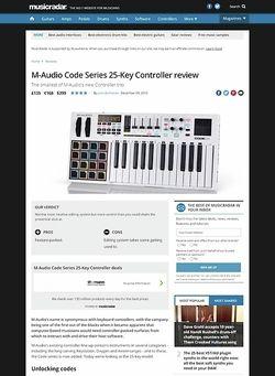 MusicRadar.com M-Audio Code Series 25-Key Controller