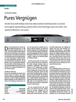Recording Magazin Antelope Pure2