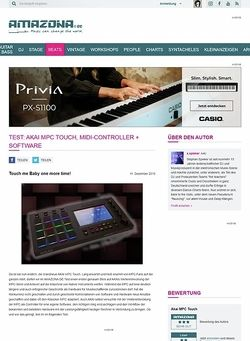 Amazona.de Test: Akai MPC Touch, MIDI-Controller + Software
