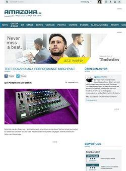 Amazona.de Test: Roland MX-1, Mix Performer