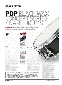Rhythm PDP Black Wax Concept Series Snare Drums