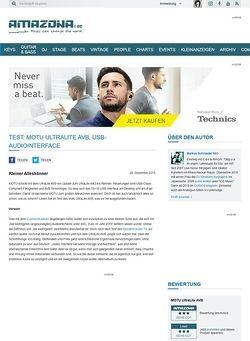 Amazona.de Test: MOTU UltraLite AVB, USB-Audiointerface