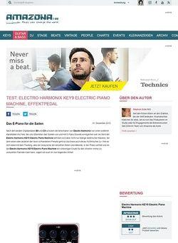 Amazona.de Test: Electro Harmonix KEY9 Electric Piano Machine, Effektpedal