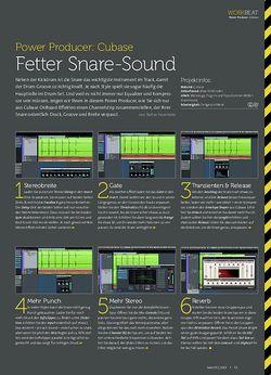 Beat Cubase - Fetter Snare-Sound