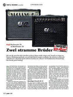 guitar Engl Rockmaster 20 & Metalmaster 20
