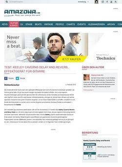 Amazona.de Test: Keeley Caverns Delay and Reverb, Effektgerät für Gitarre