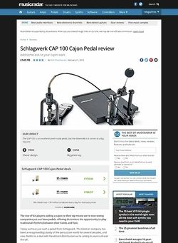 MusicRadar.com Schlagwerk CAP 100 Cajon Pedal
