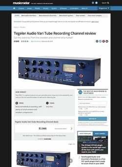 MusicRadar.com Tegeler Audio Vari Tube Recording Channel