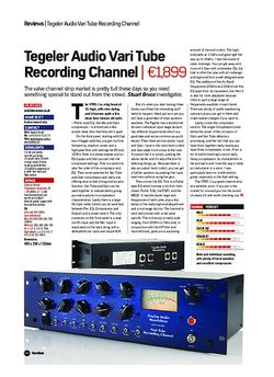 Future Music Tegeler Audio Vari Tube Recording Channel