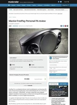 MusicRadar.com Mackie FreePlay Personal PA