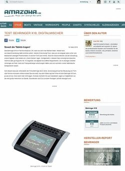 Amazona.de Test: Behringer X18, Digitalmischer