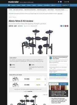 MusicRadar.com Alesis Nitro E-Kit