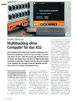 PMA Cymatic UTrack X32