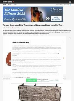 Bonedo.de Fender American Elite Telecaster MN Autumn Blaze Metallic