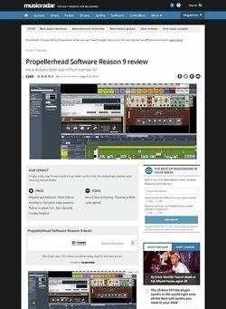MusicRadar.com Propellerhead Reason 9