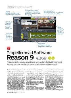 Computer Music Propellerhead Software Reason 9