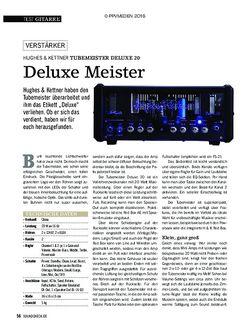 SOUNDCHECK Hughes & Kettner Tubemeister Deluxe 20