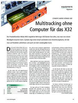 Recording Magazin Cymatic Audio Utrack X32