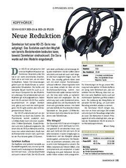 SOUNDCHECK Sennheiser HD 25, HD 25 Light und HD 25 Plus