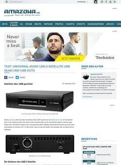 Amazona.de Test: Universal Audio UAD-2 Satellite USB Quad, USB-DSP System