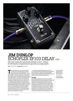 Guitarist Jim Dunlop Echoplex EP103 Delay