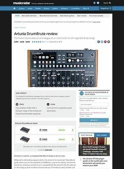 MusicRadar.com Arturia DrumBrute