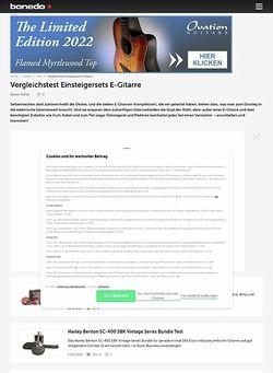 Bonedo.de Vergleichstest Einsteigersets E-Gitarre