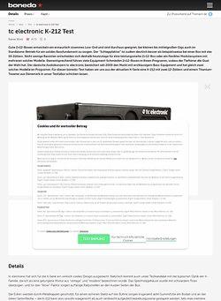Bonedo.de tc electronic K-212