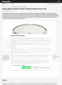 Bonedo.de Mapex Black Panther Amber Thomann Edition Snare