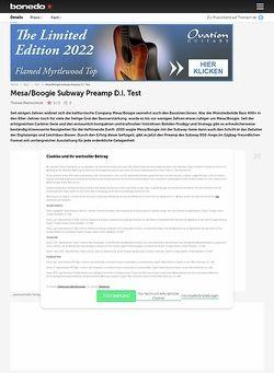 Bonedo.de Mesa/Boogie Subway Preamp D.I.