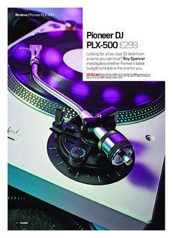 Future Music Pioneer DJ PLX-500