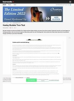 Bonedo.de Keeley Bubble Tron