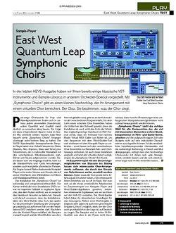KEYS Test: East West Quantum Leap Symphonic Choirs