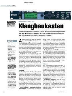 Tastenwelt Test: Yamaha Motif-Rack XS - Klangbaukasten