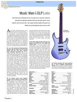 Guitar Test: Music Man & OLP Luke