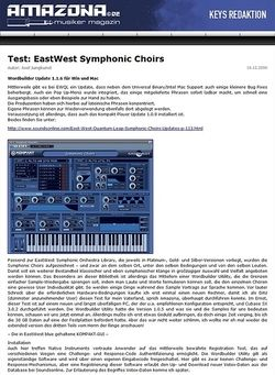 Amazona.de Test: EastWest Symphonic Choirs