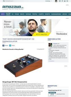 Amazona.de Test: Moog Moogerfooger MF-102 Ringmodulator