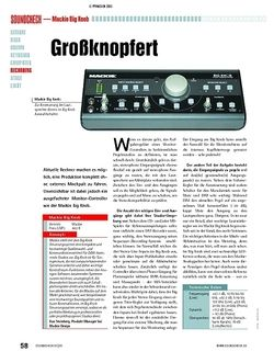 Soundcheck Test: Mackie Big Knob - Monitor-Controller