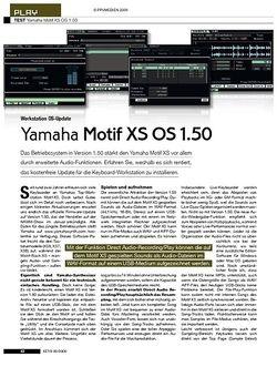 KEYS Yamaha Motif XS OS 1.50