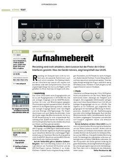 Tastenwelt Test: Lexicon I-Onix U42S - Aufnahmebereit