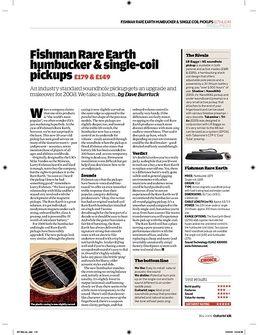 Rare Earth SingleCoil