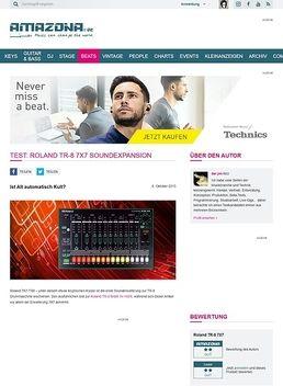 Test: Roland TR-8 7X7, Soundexpansion
