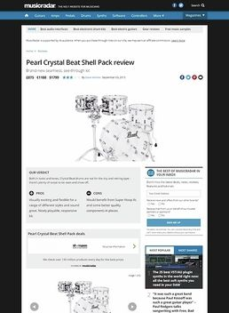 Crystal Beat Stand. Ruby Red