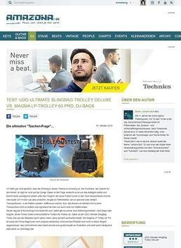 Test: UDG Ultimate SlingBag Trolley DeLuxe vs. Magma LP-Trolley 65 Pro, DJ-Bags