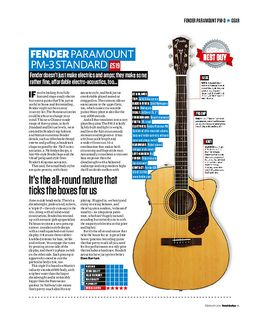 Fender Paramount Pm-3 Standard