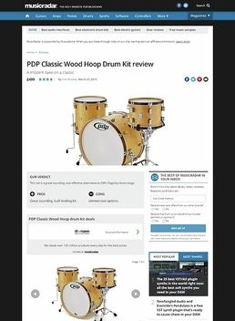 PDP Classic Wood Hoop Drum Kit