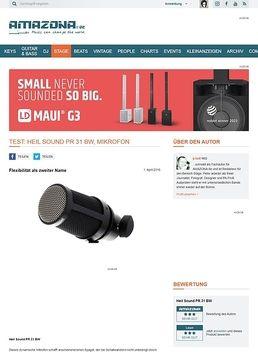 Test: Heil Sound PR 31 BW, Mikrofon