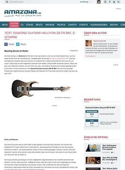 Test: Diamond Guitars Halcyon ZB FR BKF, E-Gitarre
