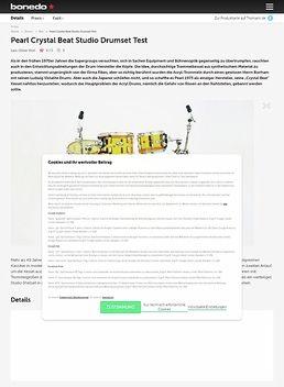 Pearl Crystal Beat Studio Drumset
