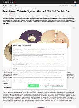 Paiste Monad, Vir2osity, Signature Groove & Blue Bird Cymbals Test